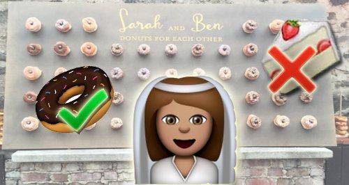 Wedding doughnut canvas