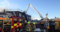 Cecil Jones Academy Fire Pic: ECFRS