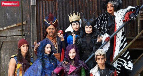 The Descendants movie Disney Villains promo tab
