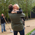Emma Bunton does her coal fire walk