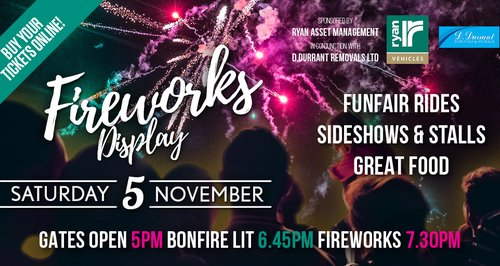 Lingfield Park Fireworks 2016