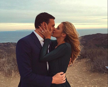 Ryan Locate and Kayla Rae Reid engagement