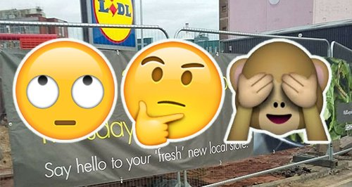 Lidl Sign Blunder Canvas