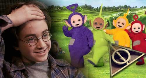 Teletubbies and harry potter canvas