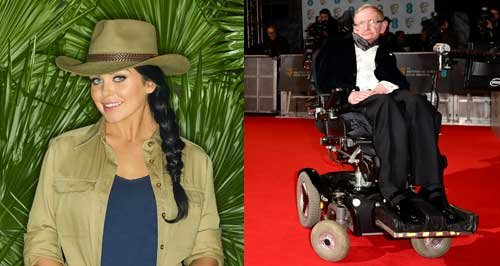 Scarlett Moffatt and Stephen Hawking canvas