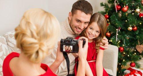 camera, family, christmas