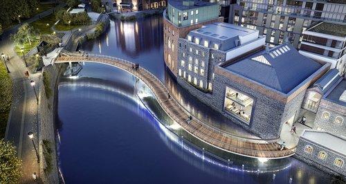 Finzels Reach Bridge, Bristol. CGI