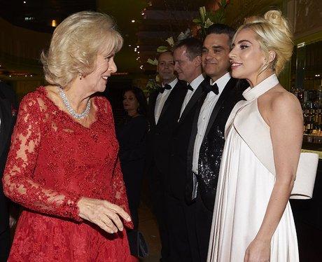 Lady Gaga and Camilla Duchess of Cornwall Royal Va
