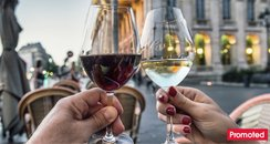 Red and white wine drinking quiz promoted tab