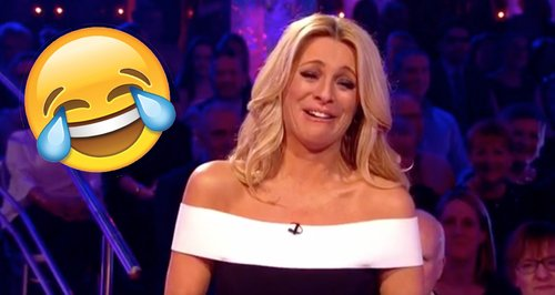 Tess Daly laughing Claudia Winkleman Strictly Come