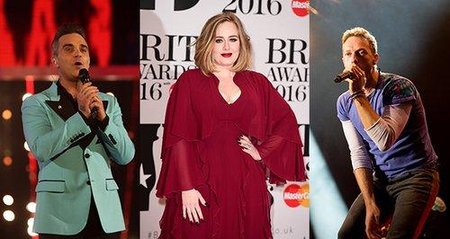 Robbie, Adele, Chris Martin