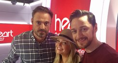 James McAvoy with Jamie And Emma