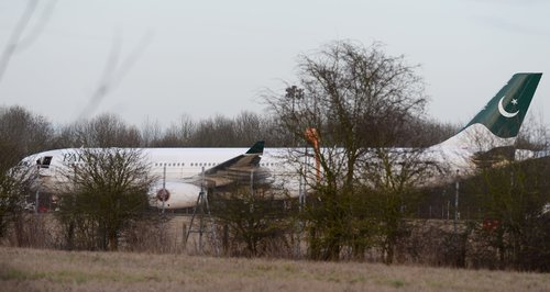 Pakistan Airlines Jet At Stansted