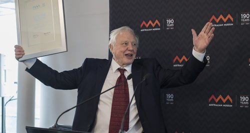 Sir David Attenborough at the Australian Museum