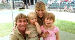 Steve Irwin and his family