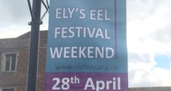 Banner advertising Ely Eel Festival