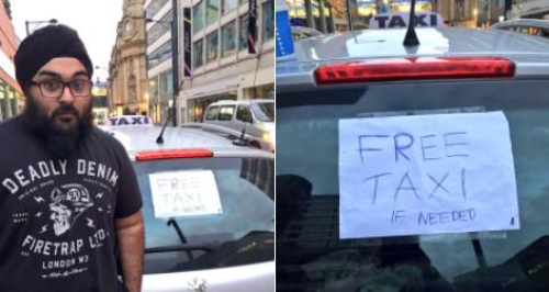 Taxi Driver Giving Free rides Manchester bombing