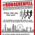 DS firefighters run4Grenfell