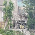 Church collapse in Cardiff