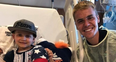 Justin Bieber visits poorly children in hospital